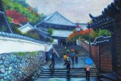 二月堂への道(油彩、F8 455×380cm、¥60,000 額なし)