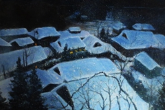 雪降りやまず(F10 530×455cm、¥60,000 額なし)